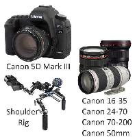 Canon 5D Mark III with Canon Lenses