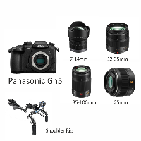 Panasonic GH5 with set of lenses