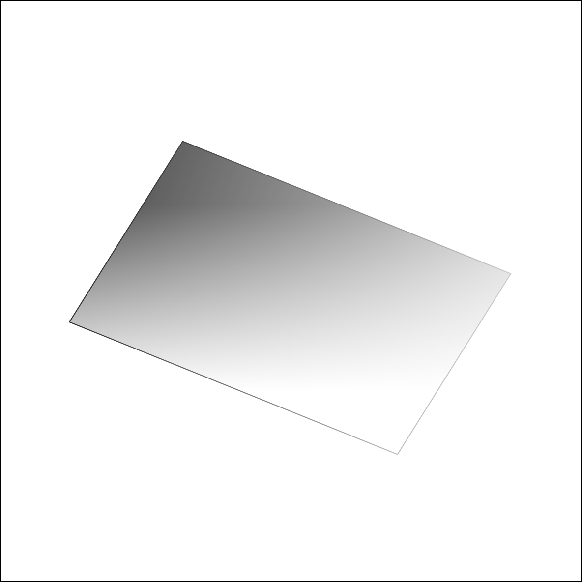 Tiffen ND 6 graduated Filter by Accord Equips