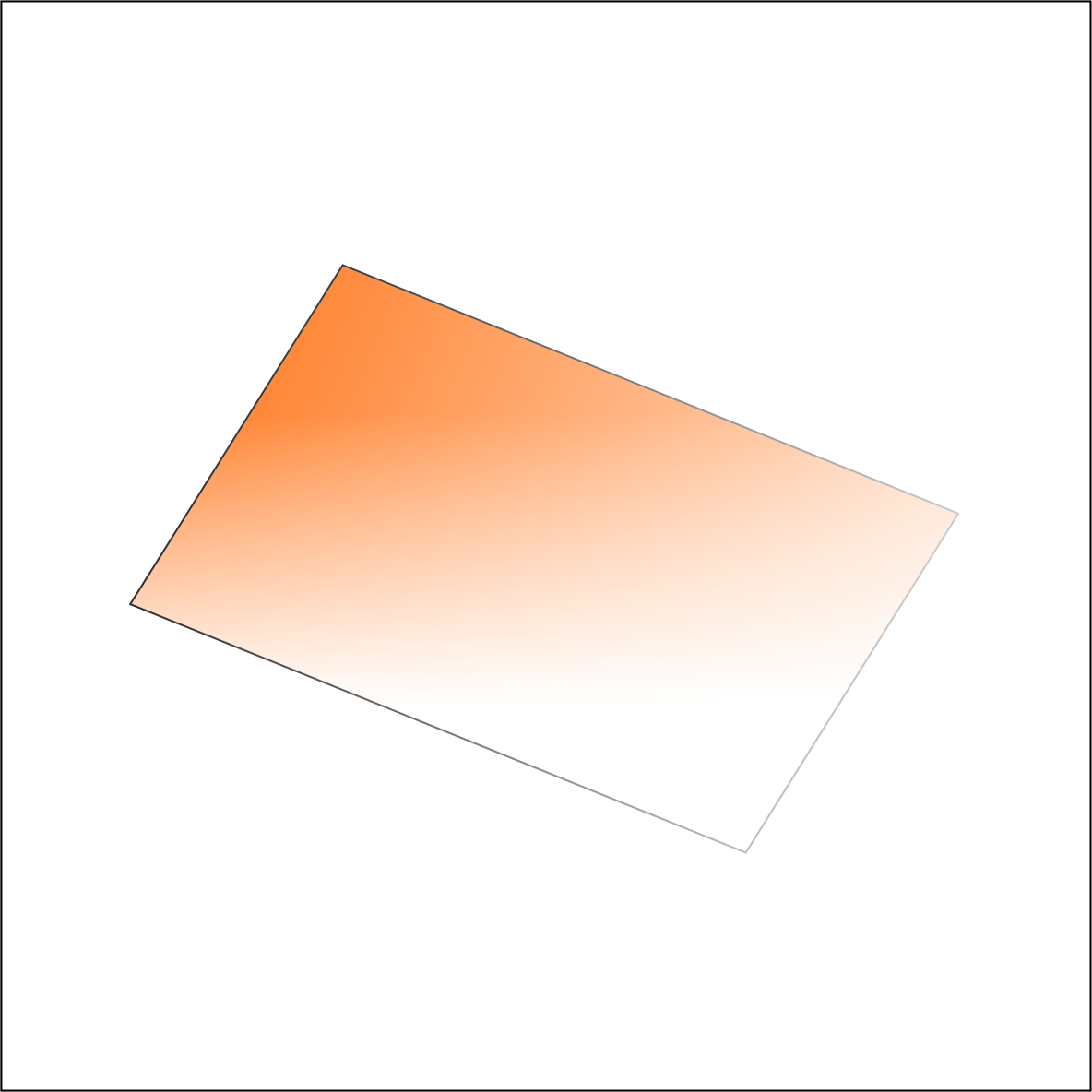 Tiffen orange graduated Filter by Accord Equips