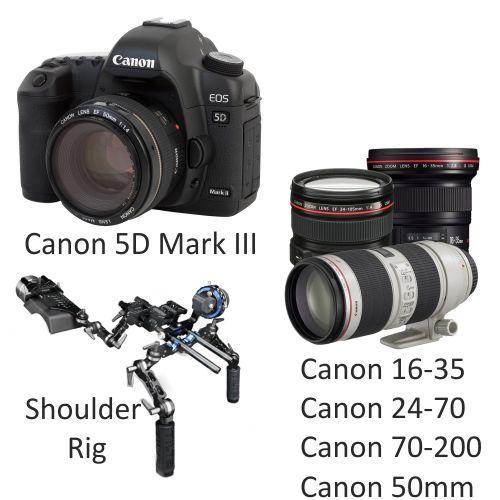Canon 5D Mark III with Canon Lenses
