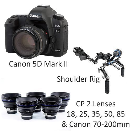 Canon 5D Mark III with CP2 Lenses