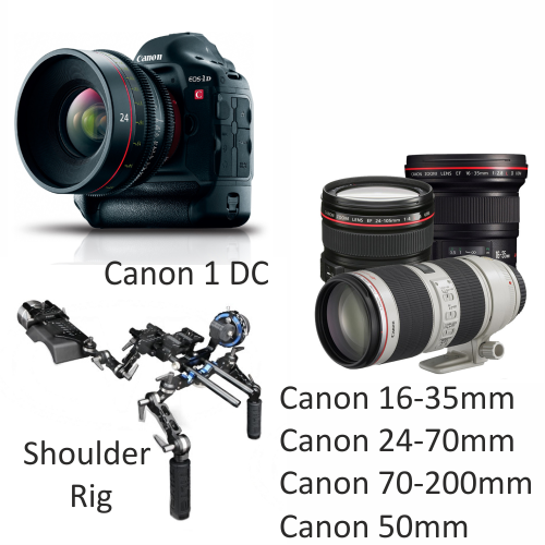 Canon 1DC with Canon Lenses