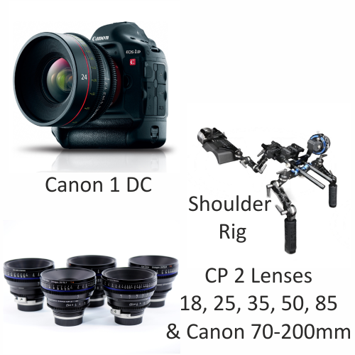 Canon 1DC with CP2 Lenses