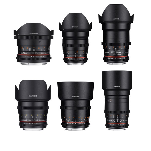 Samyang E mount Lens Kit