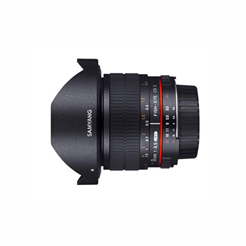Samyang 8mm f3.5 fisheye cs ii manual lens